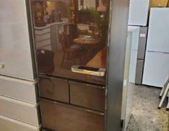AQUA アクア 415L 5ドア 冷蔵庫 2018年製 高年式 ダークブラウン 自動製氷 左開き 旬鮮 チルド フリーザー 節電 省エネ インバーター グロスブラウン 400L 450L 350L 以上 以下 未満