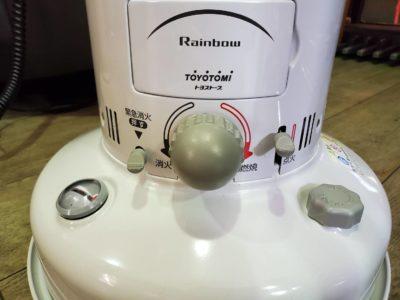 toyotomi トヨトミ とよとみ 石油ファンヒーター ストーブ rainbow レインボー 2017年式 未使用 ホワイトカラー ホワイト 燃焼 省エネ 対流式 おススメ レトロ かわいい 懐かしい 昔ながら 暖房 暖房機器 暖房器具 節電