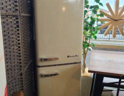 Grand-Line 198L レトロデザイン 2ドア冷凍冷蔵庫 ARE-198LW 2020年製 レトロホワイト