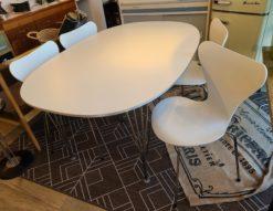 FRITZ HANSEN / フリッツ・ハンセン テーブルシリーズ セブンチェア ダイニング 5点セット スーパー楕円テーブル スパンレッグ