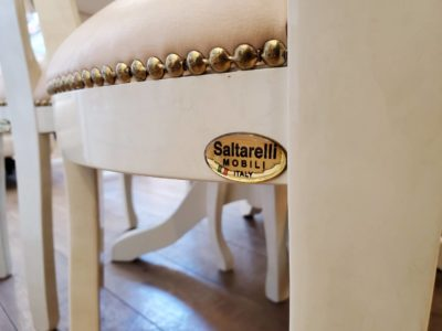 saltarelli mobili サルタレッリ・モビリ イタリア家具 メイドインイタリー ダイニング5点 D5点 ダイニングセット チェア4脚 ホワイト 大人のプリンセススタイル 美しい 美品 流行にとらわれない プリンセスな暮らし 可愛い 可愛らしい 美しい 上品な 気品あふれる ラグジュアリー