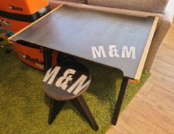 M&M FURNITURE / エム&エム ファニチャー ウマ+天板セット 丸スツール セミオーダー家具