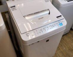 SHARP シャープ 5.5/3.5㎏ 洗濯乾燥機 2020年製 新しい 洗濯5.5㎏ 乾燥3.5㎏ 乾燥機能付き 洗濯機 タテ型 コンパクト 単身用 少人数用 2~3人 90分乾燥