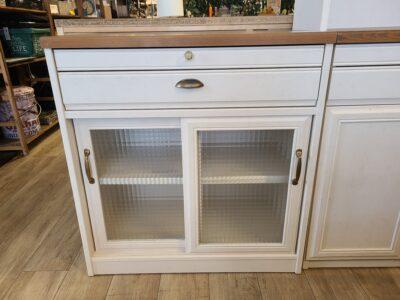 ユーアイNEO フレンチカントリー調 レンジボード キッチンボード 食器棚 パイン材
