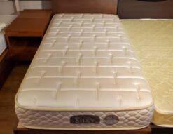 NIHON BED 日本ベッド シングルベッド SILKY シルキー ウール入 コンセント付き 照明付き 柔らかめ ソフト 美品 キレイ ポケットコイル 日本製 シングルサイズ ベッド 一人用 単身用 オススメ 横寝 横向き 睡眠 上質な眠り 高級