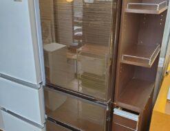 MITSUBISHI 三菱 300L 3ドア 冷蔵庫 2020年製 高年式 自動製氷 右開き グロッシーブラウン まんなか野菜室 冷凍室下 冷凍70L 大容量 中型冷蔵庫 おすすめ 単身 自炊派 シングル 2人用 3人用 2~3人用