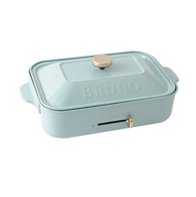 【新品未使用品】 BRUNO / ブルーノ コンパクトホットプレート BOE021-BGY ブルーグレー セラミックコート鍋セット