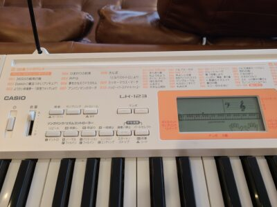 CASIO / カシオ 光ナビゲーション 電子キーボード マイク付き LK-123