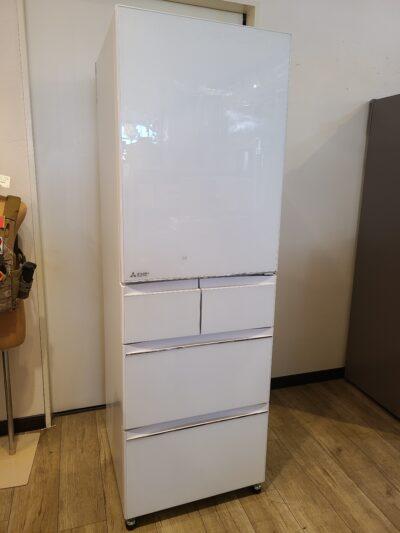 【未使用品】 MITSUBISHI / ミツビシ 置けるスマート大容量 455L 5ドア冷凍冷蔵庫 2021年製 MR-B46F クリスタルピュアホワイト