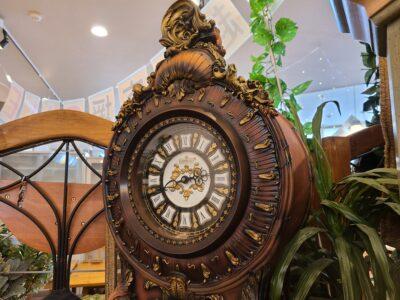 LISHENG アンティーク調 ウォールクロック 振り子 柱時計 クォーツ