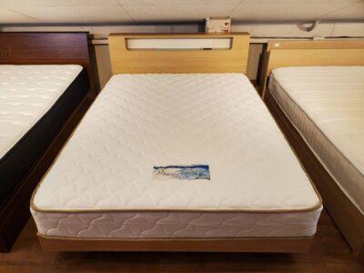 FURNITURE DOME ファニチャードーム 取り扱い dream bed ドリームベッド raffeil ラフィーユ ダブルベッド ダブルサイズベッド Wベッド Dベッド Wサイズ Dサイズ ナチュラル 照明付 コンセント付 硬め ゆったり 小棚付 オシャレ きれい 美品 短期使用 北欧