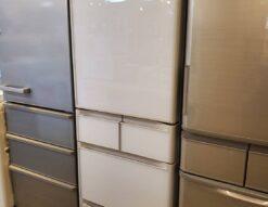 HITACHI 日立 401L 5ドア 冷蔵庫 2020年製 高年式 右開き 400L 大型冷蔵庫 美品 新しい 自動製氷 中古品 まんなか冷凍 クリスタルホワイト クリスタルドア ガラストップ 白色 おしゃれ スタイリッシュ