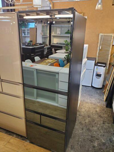 TOSHIBA 東芝 VEGETA ベジータ 501L 5ドア 冷蔵庫 大容量 右開き ミラー ブラック たっぷり収納 幅60cm 500L 450L 切り替えチルド タッチオープンドア ガラストップ オシャレ かっこいい ブラックカラー 黒 スリム