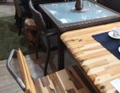 ダイニングセット リゾート風 カフェテーブルセット ウォーターヒヤシンス ガーデンセット