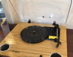 ion MAX LP オーディオ機器 スピーカー内蔵 USB レコードプレイヤー