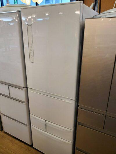 TOSHIBA 東芝 411L 5ドア 冷蔵庫 2020年製 VEGETA ベジータ ホワイト 左開き まんなか野菜室 野菜そのまま冷凍 大型冷蔵庫 冷凍冷蔵庫 高年式 おススメ お洒落 うるおいラップ野菜室 キレイ 美品
