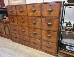 薬箪笥 木製 4段チェスト 鍵付き 古家具 アンティーク