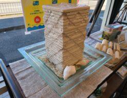石柱の噴水 ウォーターファウンテン バリ雑貨 インテリアオブジェ バリ島リゾートホテル ミニ噴水