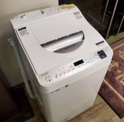 SHARP シャープ 5.5/3.5㎏ 洗濯乾燥機 2021年製 高年式 美品 タテ型 洗濯機 乾燥機能付き コンパクト 単身 一人暮らし おしゃれ着洗い 時短 穴なし槽 オススメ おススメ ホワイト 5.5㎏ 3.5㎏ 洗乾
