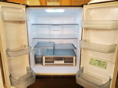 hitachi ヒタチ 日立 475L冷蔵庫 6ドア冷蔵庫 2019年 冷凍冷蔵庫 冷蔵庫 ファミリー向け グレイッシュブラウン 自動製氷機能付 自動製氷付 ガラスドア リサイクルショップ リサイクル 再良市場 天白区 名東区 買取 出張買取 高価買取 販売 お値打ち 特価 1点物 1点モノ 早いもの勝ち おすすめ おしゃれ ブラウン系 茶色
